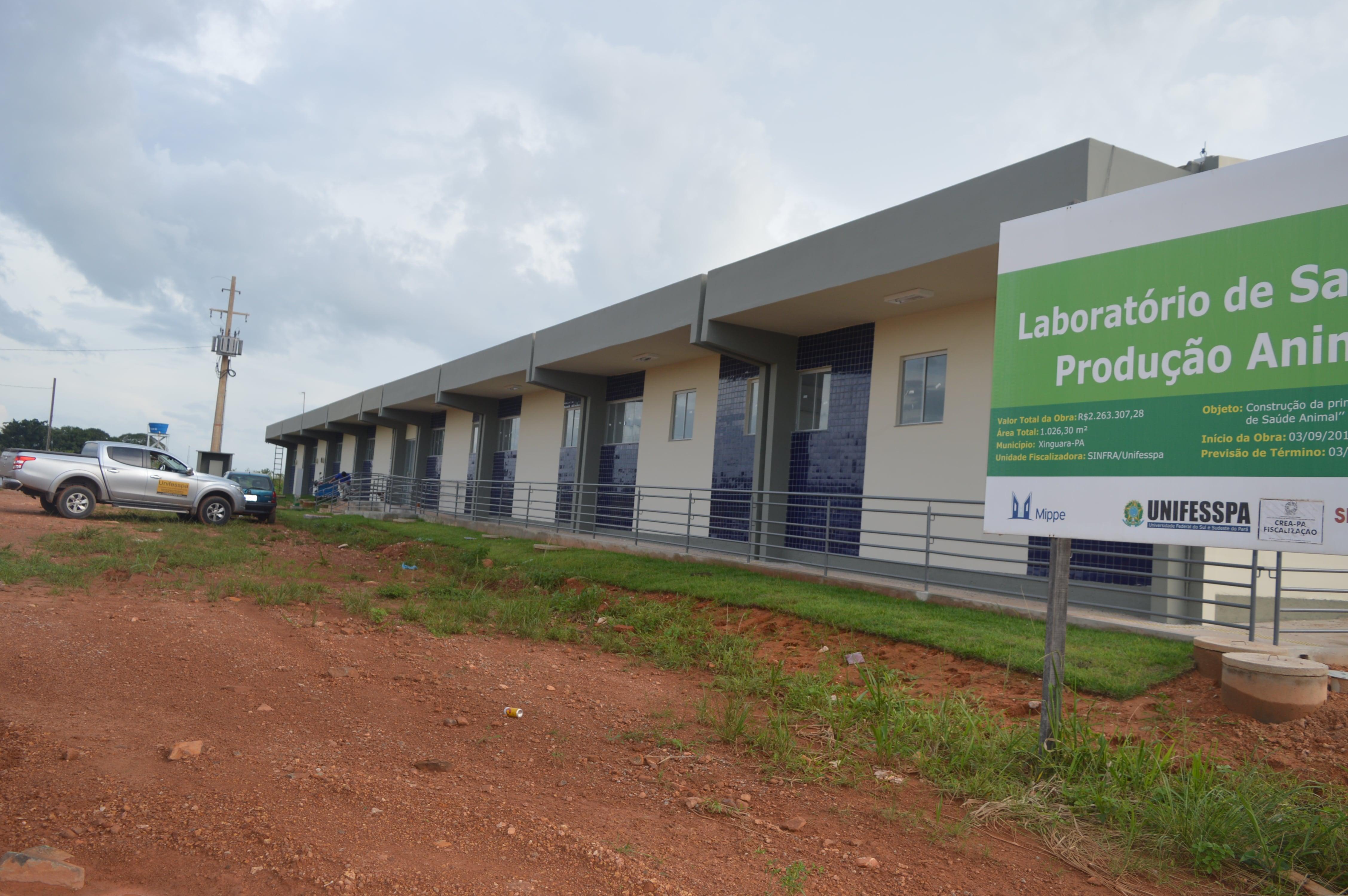 Construção do Laboratório de Produção e Saúde Animal, localizado no Campus Universitário de Xinguara - PA